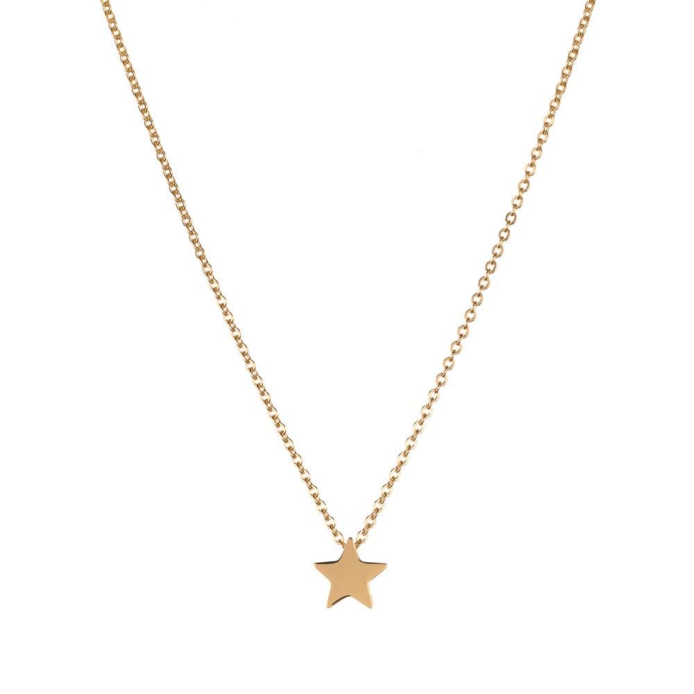 Colgante Estrella en Acero Dorado
