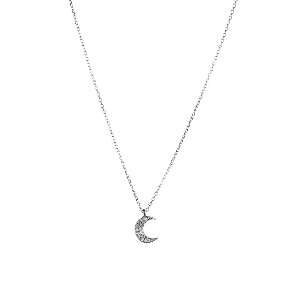 Colgante Luna con Circonitas