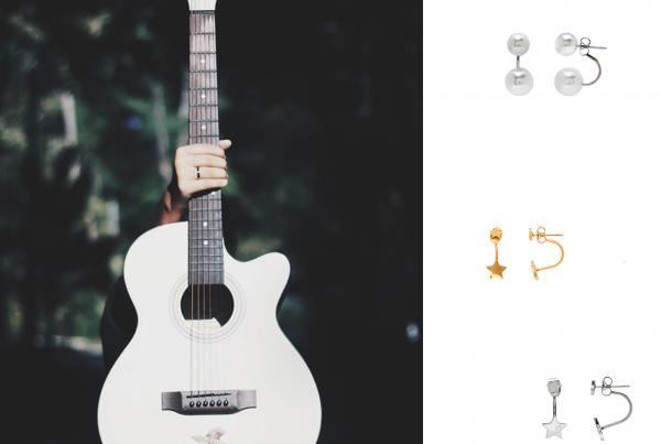 Pendientes Ear Jackets, la fusión de lo rockero y lo clásico